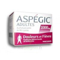 ASPEGIC ADULTES 1000 mg, poudre pour solution buvable en sachet-dose 20 à DIJON