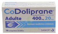 CODOLIPRANE ADULTES 400 mg/20 mg, comprimé sécable à DIJON