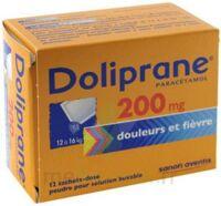 DOLIPRANE 200 mg Poudre pour solution buvable en sachet-dose B/12 à DIJON