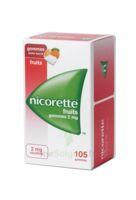 Nicorette 2 Mg Gomme à Mâcher Médicamenteuse Sans Sucre Fruits Plq/105 à DIJON