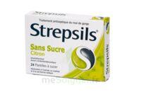 STREPSILS CITRON SANS SUCRE, pastille édulcorée à l'isomalt, au maltitol et à la saccharine sodique à DIJON