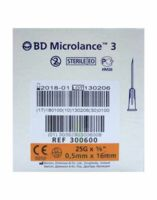 BD MICROLANCE 3, G25 5/8, 0,5 mm x 16 mm, orange  à DIJON