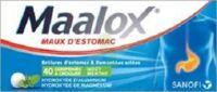 Maalox Hydroxyde D'aluminium/hydroxyde De Magnesium 400 Mg/400 Mg Cpr à Croquer Maux D'estomac Plq/40 à DIJON