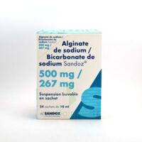 ALGINATE DE SODIUM/BICARBONATE DE SODIUM SANDOZ 500 mg/267 mg, suspension buvable en sachet à DIJON