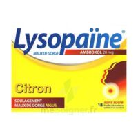 LYSOPAÏNE MAUX DE GORGE AMBROXOL CITRON 20 mg SANS SUCRE, pastille édulcorée au sorbitol et au sucralose à DIJON