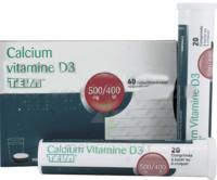 CALCIUM VITAMINE D3 TEVA 500 mg/400 UI, comprimé à sucer ou à croquer à DIJON