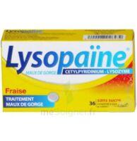 LYSOPAÏNE MAUX DE GORGE CETYLPYRIDINIUM LYSOZYME FRAISE SANS SUCRE, comprimé à sucer édulcoré au sorbitol et à la saccharine à DIJON