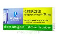 CETIRIZINE BIOGARAN CONSEIL 10 mg, comprimé pelliculé sécable à DIJON