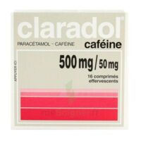 CLARADOL CAFEINE 500 mg/50 mg, comprimé effervescent à DIJON