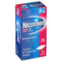 NICOTINELL FRUIT 2 mg SANS SUCRE, gomme à mâcher médicamenteuse Plaq/36gom à DIJON