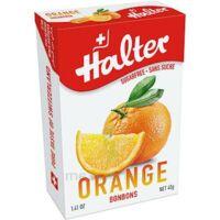 Halter Bonbon sans sucre orange 40g à DIJON