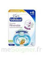 Bebisol Slim - Sucette physiologique silicone jour +6mois bleu T2 à DIJON
