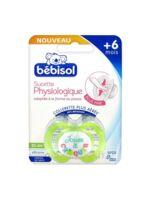 Bebisol Slim - Sucette physiologique silicone jour +6mois vert T2 à DIJON