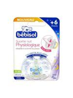 Bébisol Slim Sucette physiologique silicone nuit +6mois T2 à DIJON
