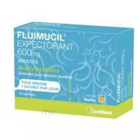 FLUIMUCIL EXPECTORANT ACETYLCYSTEINE 600 mg Glé s buv adultes 10Sach à DIJON