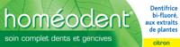 Boiron Homéodent Soin Complet Dents et Gencives Pâte Dentifrice Citron 2T/75ml à DIJON